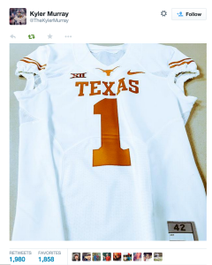 AgsInDepth-A Texas A&M Football Blog-Kyler Murray UT jersey